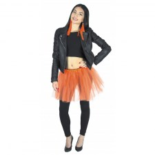Deguisement disco tutu orange fluo